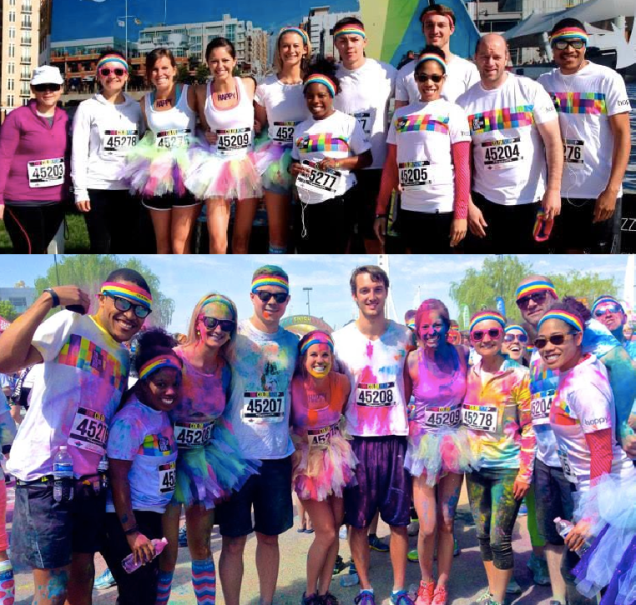 ColorRun DC Group Pic Before After