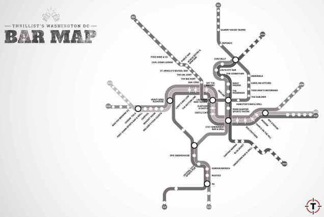 DC metro bar map