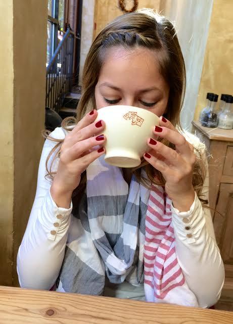 LPQ sip coffee