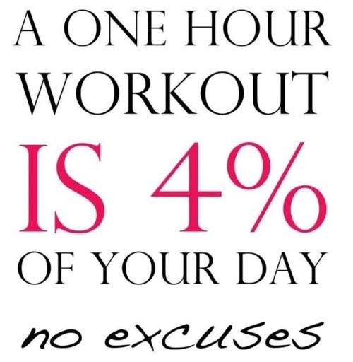 workout is 4 percent of your day