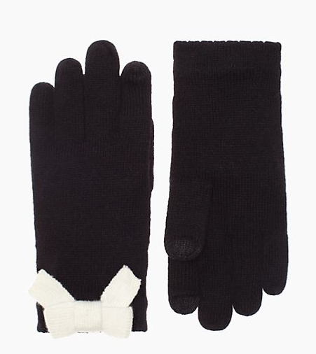 All the Trimmings Bow Gloves by Kate Spade