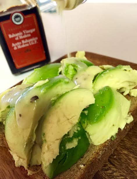 avocado toast drizzle