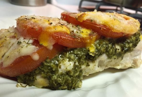 cooked chicken pesto