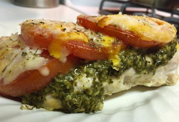 cooked chicken pesto