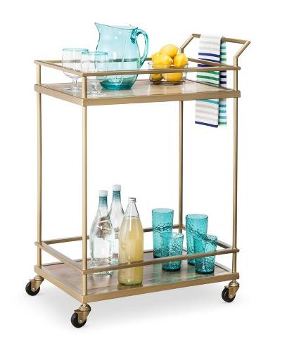 Gold Bar Cart from Target