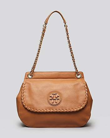 Tori Burch Shoulder Bag - Brown Marion Saddle Bag