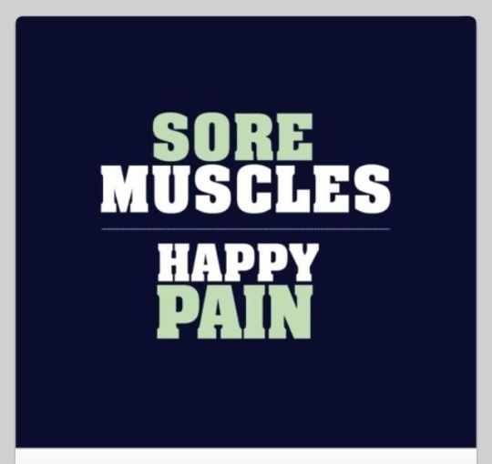 sore muscels - happy pain