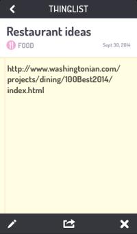 Thinglist app example
