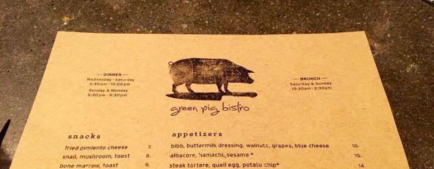 Green Pig Bistro  VA