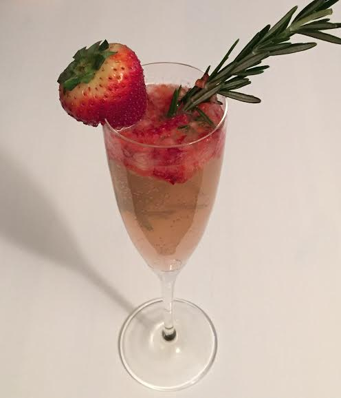 strawberry rosemary vodka cocktail