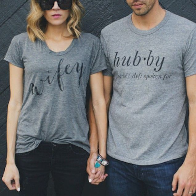 wifey and hubby tshirts