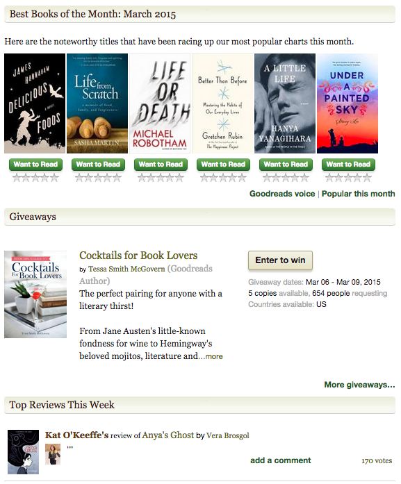 Goodreads features