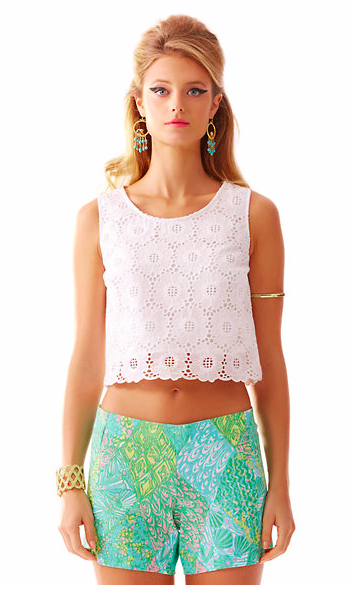 lux cropped lace top lilly pulitzer