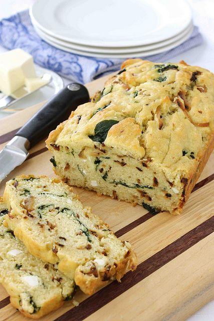 onion spinach quick bread