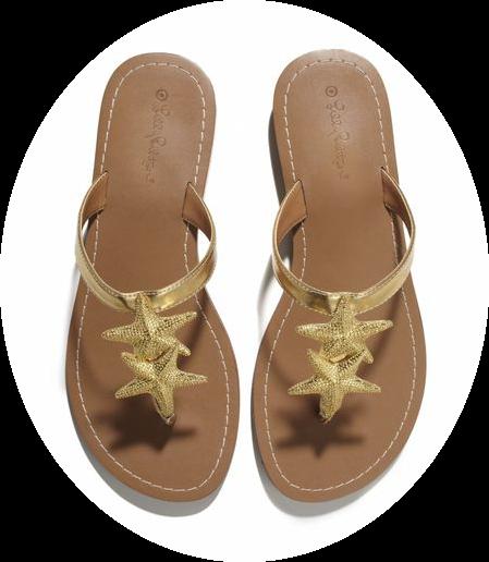 Target Lilly Pulitzer starfish sandals