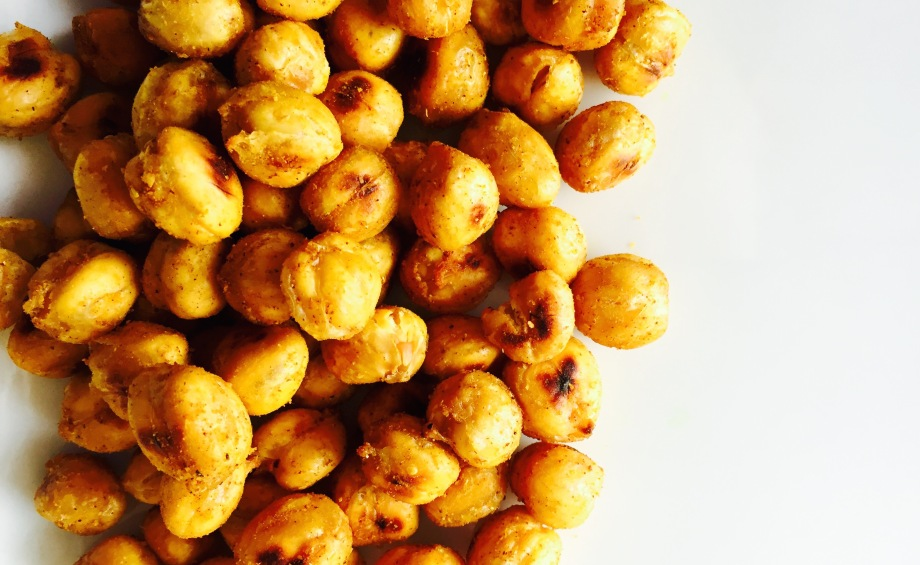 crispy curry chickpea