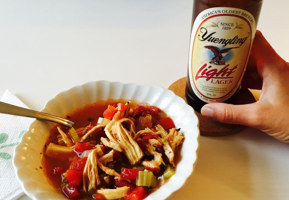simple summer chicken soup