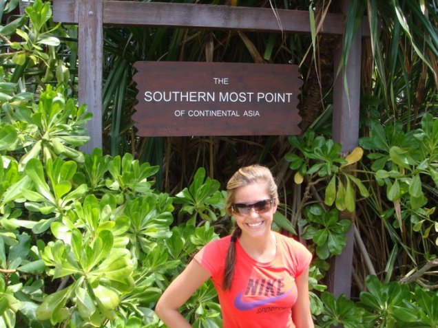 southern most point of continential asia