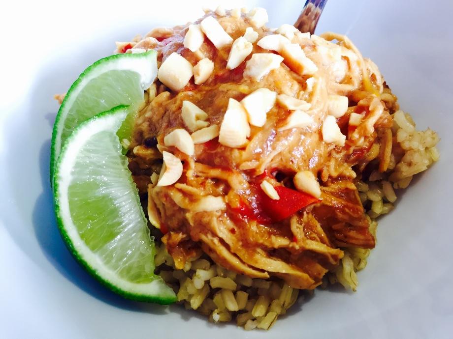 Thai peanut chicken crockpot