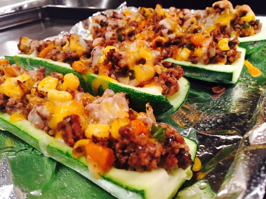 meat zucchini boat